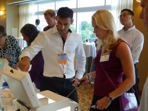 Dr. Abdessamad teaching laparoscopic suturing at annual LIGO course for Total Laparoscopic Hysterectomy, San Francisco