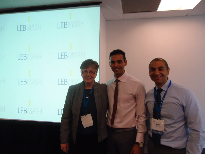 Dr. Desi Bailey (left), past president of GLMA, with Dr. Hasan Abdessamad (center) and Dr. Omar Fattal (right) after presenting LebMASH workshop on advancing healthcare for sexual minorities in Lebanon. Denver, USA in Sept 2013