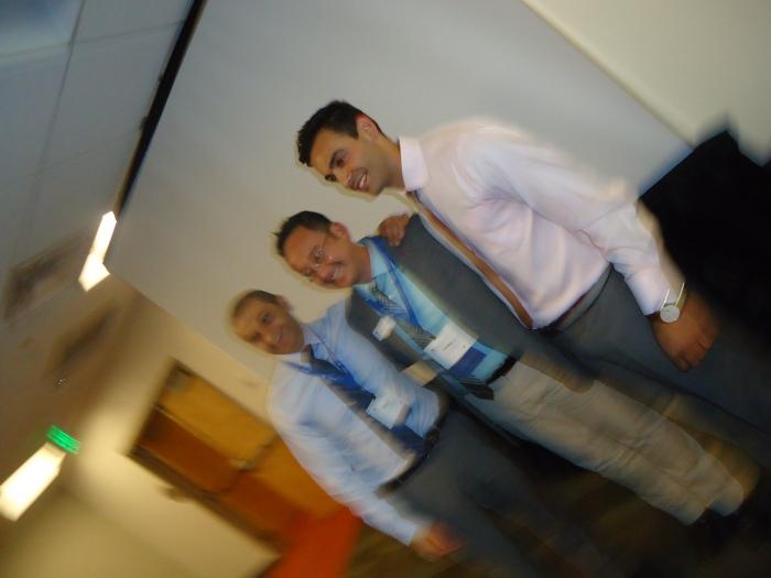 From Left to Right:  Dr. Omar Fattal (LebMASH co-founder & executive board member), Dr. Henry Ng (GLMA president), Dr. Hasan Abdessamad (LebMASH president) - Denver Sept. 2013