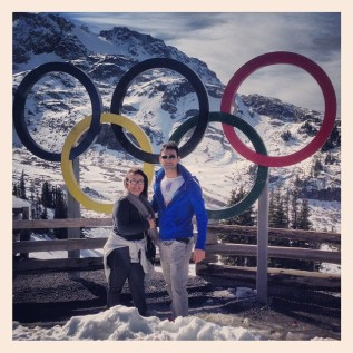With my mother in Whistler, BC