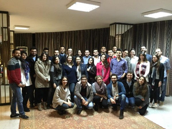 LebMASH team with medical students from the LeMSIC/LebMASH joint workshop on LGBT health in Lebanon, 2015